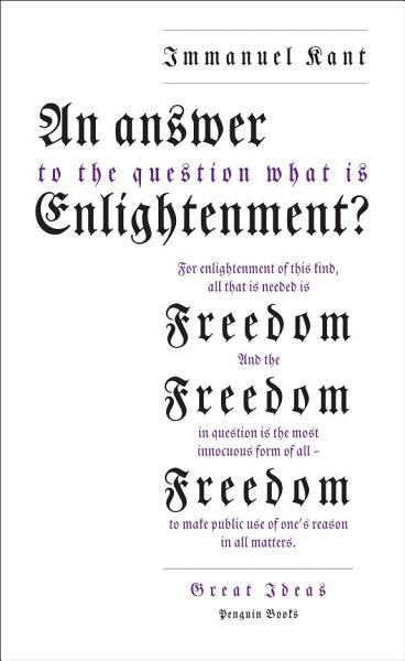 Download An Answer to the Question   What is Enlightenment   Book
