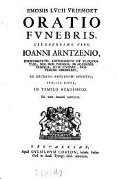 Emonis Lucii Vriemoet Oratio funebris ... Ioanni Arntzenio ... dicta