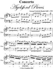 Concerto Aylesford Pieces Easy Piano Sheet Music