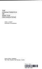 The Characteristics of Effective Organizations PDF