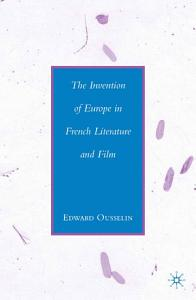 The Invention of Europe in French Literature and Film PDF