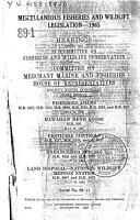 Miscellaneous Fisheries and Wildlife Legislation   1965 PDF