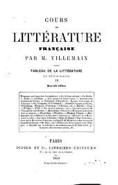 Cours de littérature française, 4: tableau de la littérature au XVIIIe siècle