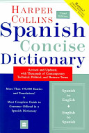 Collins Spanish Concise Dictionary, 3e