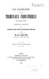 Loi allemande sur les tribunaux industriels (29 juillet 1890)