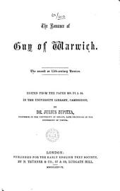 The Romance of Guy of Warwick: The Second Or 15th-century Version, Volumes 25-26