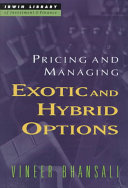 Pricing and Managing Exotic and Hybrid Options PDF