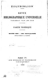 Polybiblion: Revue bibliographique universelle, Volume114