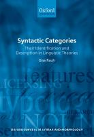 Syntactic Categories PDF