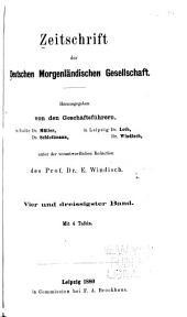 Zeitschrift der Deutschen Morgenländischen Gesellschaft: Band 34
