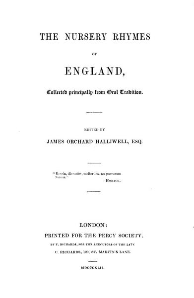 Download The Nursery Rhymes of England Book