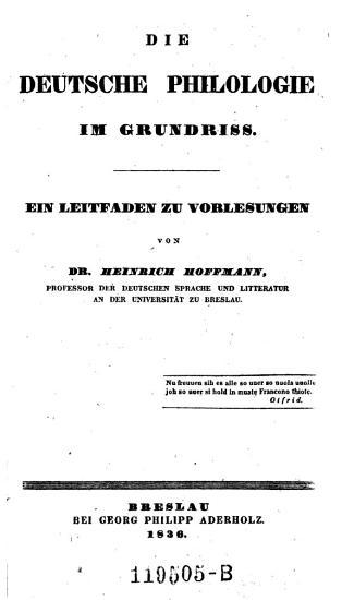 Deutsche Philologie im Grundri   PDF