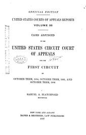 United States Courts of Appeals Reports: Cases Adjudged in the United States Circuit Court of Appeals, Volume 33