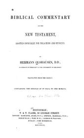 Biblical Commentary on the New Testament: Adapted Especially for Preachers and Students