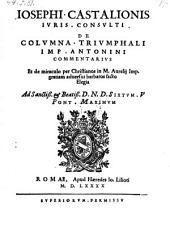 De Columna triumphali imperatoris Antonini commentarius