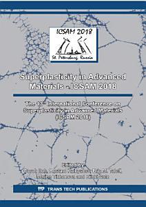 Superplasticity in Advanced Materials   ICSAM 2018