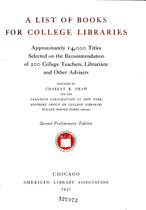 A List of Books for College Libraries PDF