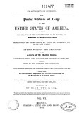 By Authority Of Congress The Public Statutes At Large Of The United States Of America From The Organization Of The Government In 1789 To March 3 1845