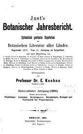 Just's botanischer jahresbericht: Systematisch geordnetes repertorium der botanischen literatur aller länder, Band 17,Teil 1