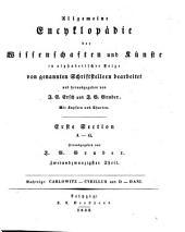 Allgemeine Encyklopädie der Wissenschaften und Künste: in alphabetischer Folge. ¬Section ¬1, A - G ; Th. 22, Nachträge: Carlowitz - Cyrillus und D - Dani. 1,22