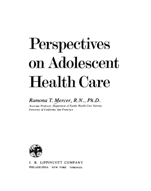 Perspectives on Adolescent Health Care PDF