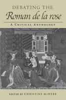 Debating the Roman de la Rose PDF
