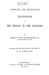 Critical and Exegetical Hand-book to the Epistle to the Galatians