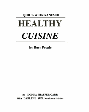 Healthy Cuisine for Busy People