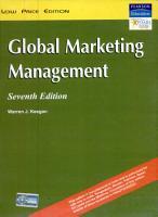 Global Marketing Management PDF