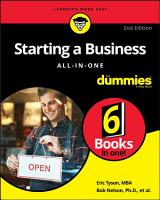 Starting a Business All in One For Dummies PDF