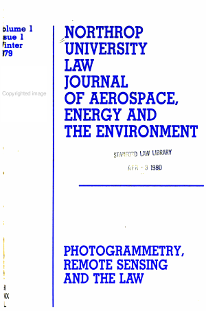 Northrop University Law Journal of Aerospace  Energy and the Environment PDF