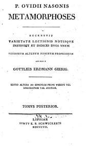 P. Ovidii Nasonis Metamorphoses: Volume 2