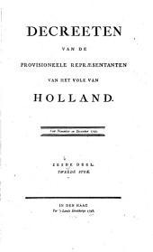 Decreeten van de Provisioneele repræsentanten van het volk van Holland. 26 January 1795--2 Maart 1796: Volume 6,Deel 2