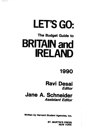 Let s Go  the Budget Guide to Britain and Ireland PDF
