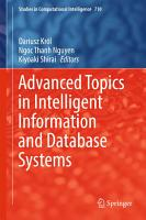 Advanced Topics in Intelligent Information and Database Systems PDF
