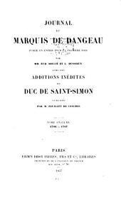 Journal du marquis de Dangeau: Volume11