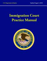 Immigration Court Practice Manual  Revised August  2018  PDF