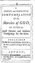 A Serious and Pathetical Contemplation of the Mercies of God