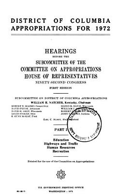 District of Columbia Appropriations for 1972 PDF