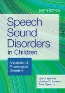 Speech Sound Disorders in Children PDF