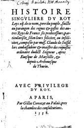 Histoire singulière du Roy Louis XII.