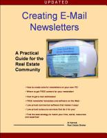 Creating E Mail Newsletters   A Practical Guide for the Real Estate Community PDF