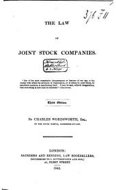The Law of Joint Stock Companies