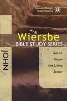 The Wiersbe Bible Study Series  John PDF