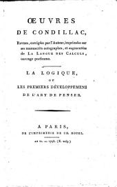 Oeuvres de Condillac: Volume 22