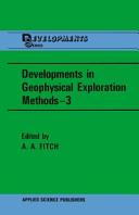 Developments in Geophysical Exploration Methods-3
