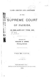 Cases Adjudicated: Volume 27