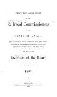 Annual Report of the Railroad Commissioners of the State of Maine PDF