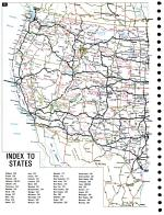 City map atlas of the continental United States for people traveling professionally