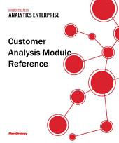Customer Analysis Module Reference for MicroStrategy 9.5